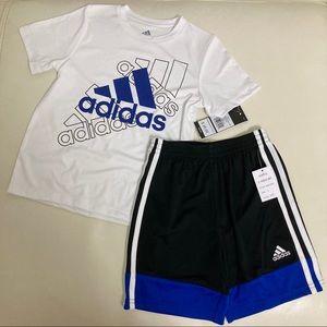 Adidas cute active shorts set 2135